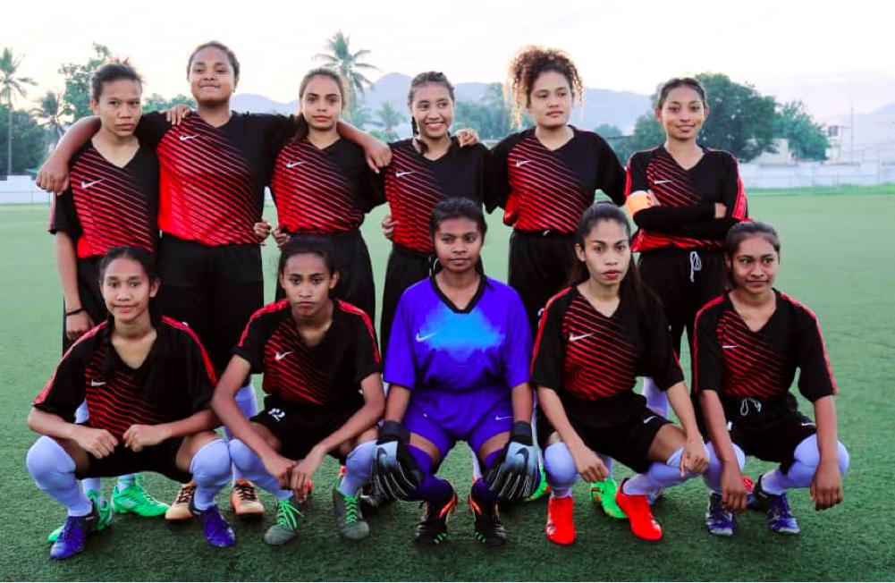 Line Up ekipa futeból feminina Asosiasaun futeból Baukau, Foto TP: Augusto Sarmento